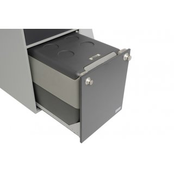 Cucina Oslo grigio argento, cassetto per Frigo Box WAECO CF 35 - Auto